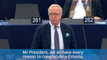 Plenary speech on the Estonian Presidency