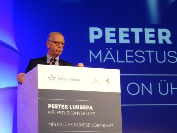To an outstanding activist for freedom at the International Conference in Memory of Peeter Luksep in Tallinn 27th January 2018